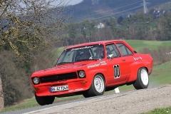 Martin Wagner in seinem Irmscher-Opel bei der Ostalb-Rallye