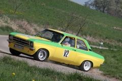 Vorausfahrzeug bei der Ostalb-Rallye