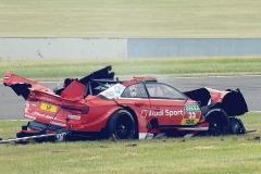 Sicherheit pur. Der zerstörte Audi RS5 DTM von René Rast_Foto- DTM Organisation