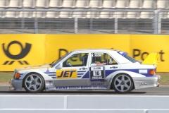 Roland Asch im Classic-Mercedes 190 von1990 - Foto Eberhard Strähle