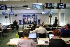 im Pressezentrum - Foto Eberhard Strähle