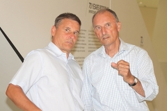 IMG_1231_Porsches Renn- und PR-Urgestein Manfred Jantke (rechts) und sein Gast Chris Vogler