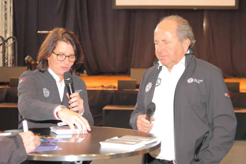 Ex-Rennfahrer von Mercedes Ellen Lohr und Klaus Ludwig - Foto Strähle