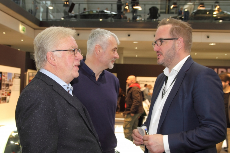 Wolfgang Inhester VdM, Jörg Walz und Frank Jung von Porsche - Foto Strähle
