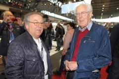 Rennlegende Kurt Ahrens und ex-Rennleiter Peter Falk - Foto Strähle